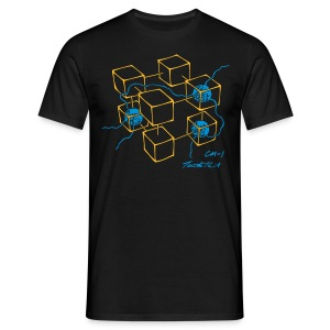 CM-1 Logo men's black/blue - Men's T-Shirt