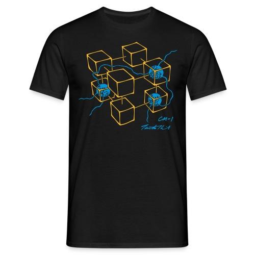 CM-1 Logo men's black/blue - Men's T-Shirt