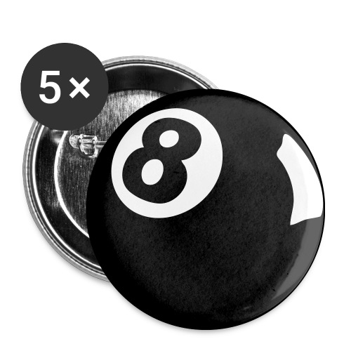 Badge 8 Ball - Buttons medium 32 mm
