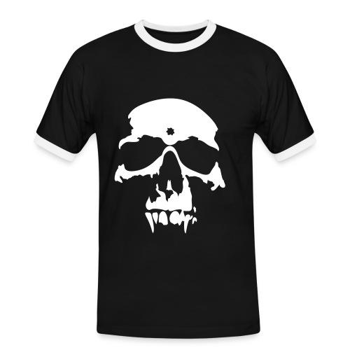 Skulls - Kontrast-T-skjorte for menn