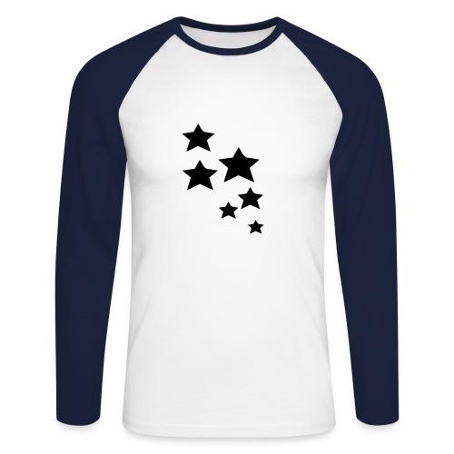 Star-Shirt - Männer Baseballshirt langarm