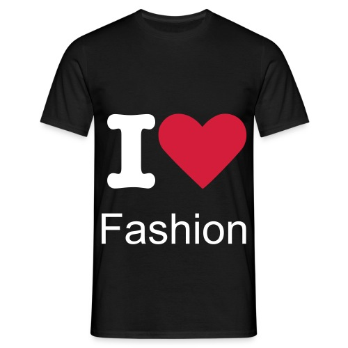 T shirt I love Fashion (black) - T-shirt Homme