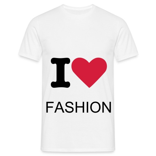 T shirt I love Fashion (white) - T-shirt Homme