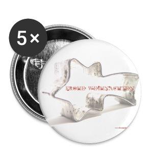 Button_Weihnachten_Stern - Buttons mittel 32 mm
