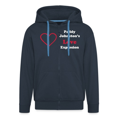 Heart Hoodie - mmmm Warm! - Men's Premium Hooded Jacket