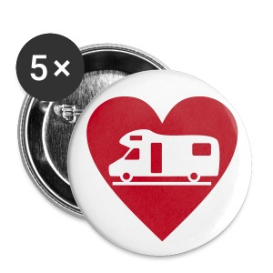 Badge - Love my motorhome - Buttons large 56 mm