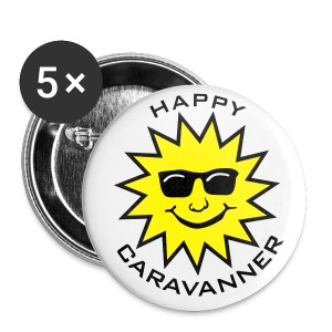 Badge - Happy Caravanner - Buttons large 56 mm