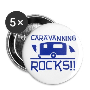 Badge - Caravanning ROCKS - Buttons large 56 mm