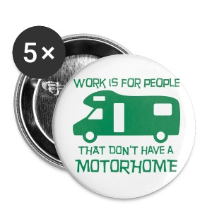 Badge - Work Motorhome - Buttons large 56 mm