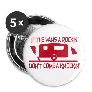 Badge - If the van's a rockin' - Buttons large 56 mm