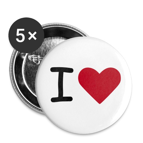 Kompis4ever-ILove - Små knappar 25 mm (5-pack)
