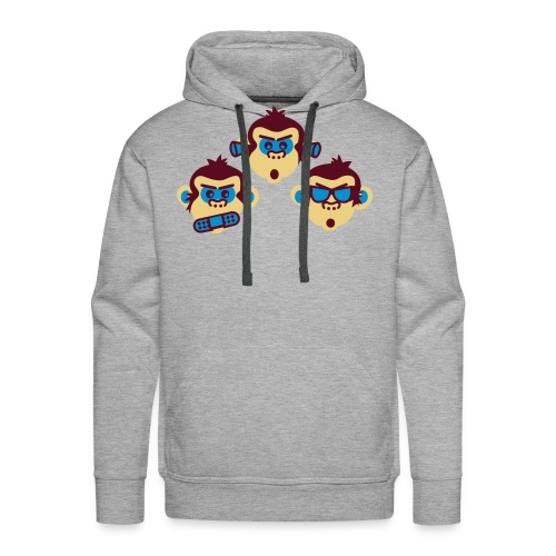 Felpa Monkeys - Felpa con cappuccio premium da uomo