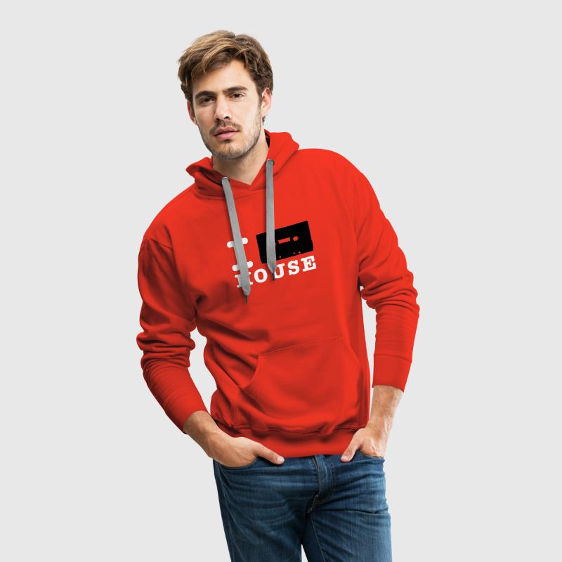 Rot i love house Pullover - Männer Premium Hoodie