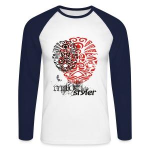 Maori h Styler men p ii - Männer Baseballshirt langarm