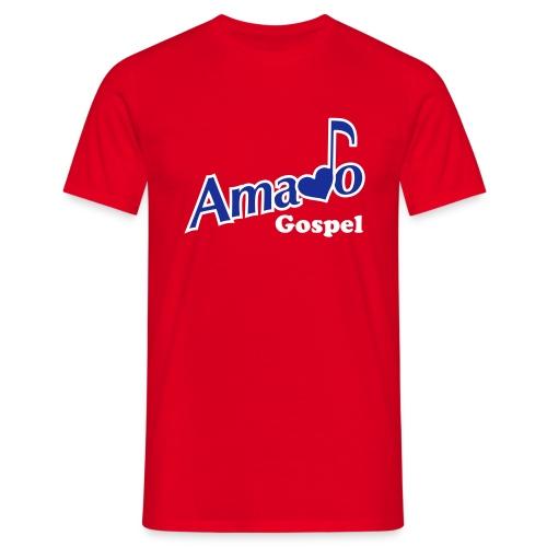 Tshirt Amado Gospel  -   avec Logo devant, prénom derière et note de musique sur l'épaule - T-shirt Homme