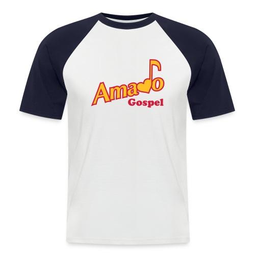 Tshirt Amado Gospel  -   avec Logo devant, prénom derière et note de musique sur l'épaule - T-shirt baseball manches courtes Homme