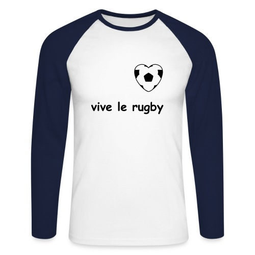 rugbyman - T-shirt baseball manches longues Homme