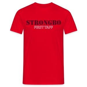 Strongbo Red Men's Slim Fit T-shirt - Men's T-Shirt