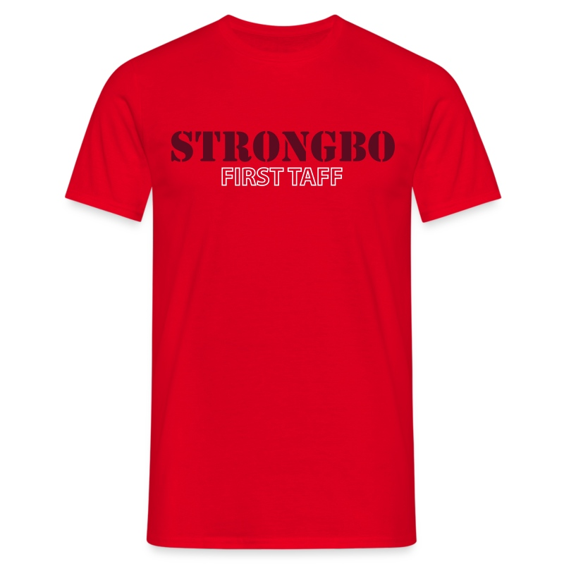 Strongbo Red Men's Slim Fit T-shirt - Men's T-Shirt
