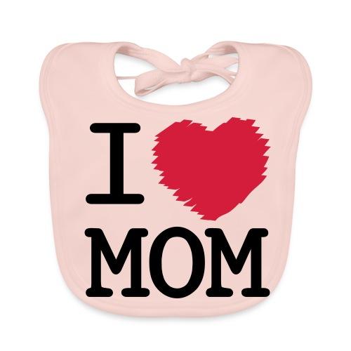 Baby-Lätzchen I Love Mom - Baby Bio-Lätzchen