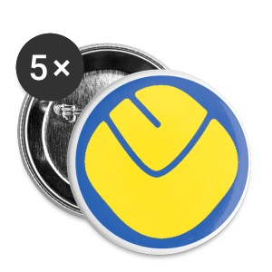 Smiley Badge Large x 5 - Buttons large 56 mm