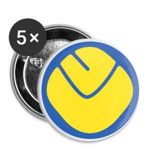 Smiley Badge Medium x 5 - Buttons medium 32 mm