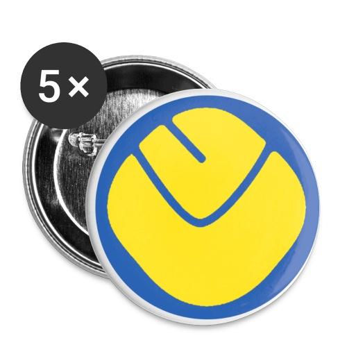 Smiley Badge Medium x 5 - Buttons medium 32 mm