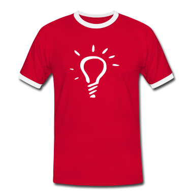 Red/white bulb Men's Tees