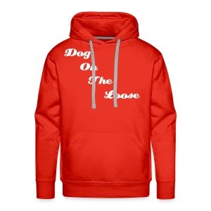 Men's Hooded Red & White D.O.T.L Sweatshirt - Men's Premium Hoodie