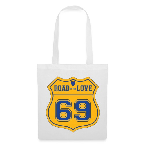Sac tissu Road Love - Tote Bag