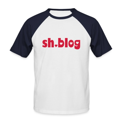 sh-blog-shirt - Männer Baseball-T-Shirt