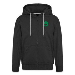 LOGO - BLACK - Men's Premium Hooded Jacket