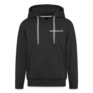 LOGOTYPE - BLACK - Men's Premium Hooded Jacket