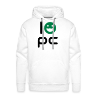 Hoodies & Sweatshirts ~ Men's Premium Hoodie ~ I LOVE PC - WHITE