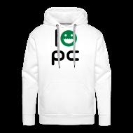 Hoodies & Sweatshirts ~ Men's Premium Hoodie ~ I LOVE PC - WHITE
