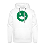 Hoodies & Sweatshirts ~ Men's Premium Hoodie ~ LOGO - WHITE