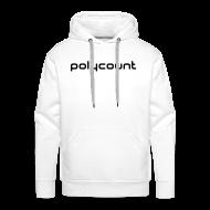 Hoodies & Sweatshirts ~ Men's Premium Hoodie ~ LOGO TYPE - WHITE