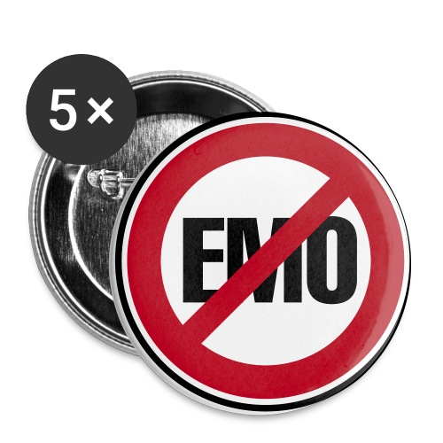 Anti Emo badgets - Buttons/Badges stor, 56 mm (5-pack)