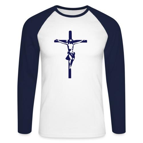 Jesus - Langermet baseball-skjorte for menn