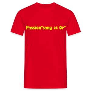 Tee-shirt Passion Sang et Or - T-shirt Homme