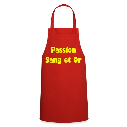 tablier Passion Sang et Or - Tablier de cuisine