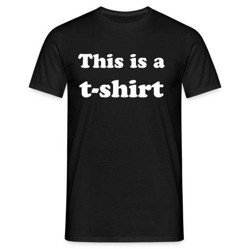 This is a t-shirt - T-shirt herr