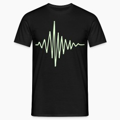 Black Soundwave Men's Tees