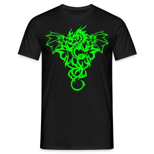 Tribal dragon- Neongrön - T-shirt herr