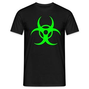Biohazard - Neongrönt tryck - T-shirt herr