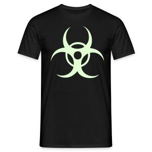 Biohazard - Självlysande tryck - T-shirt herr