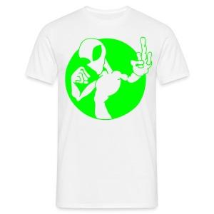 Alien Fuck U - Neongrönt tryck - T-shirt herr