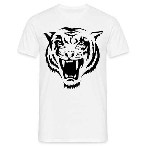 Tiger - svart tryck - T-shirt herr