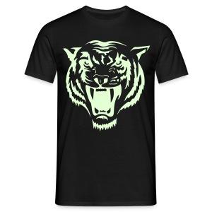 Tiger - självlysande tryck - T-shirt herr