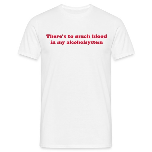 To much blood - T-shirt herr